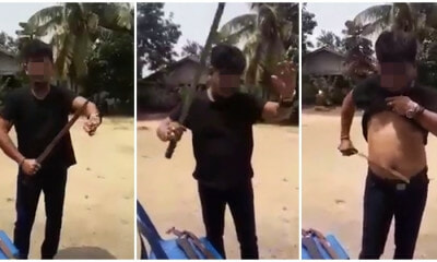 Man Who Slices Himself Warned Non-Malays Not To Step On The Malays Are Now Hunted By Netizens - WORLD OF BUZZ 2