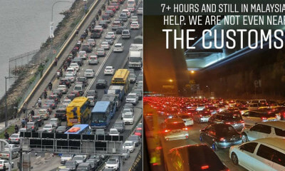 Motorists Were Stuck Overnight In Bad Traffic At Tuas & Woodlands Checkpoint For More Than 7 Hours - WORLD OF BUZZ