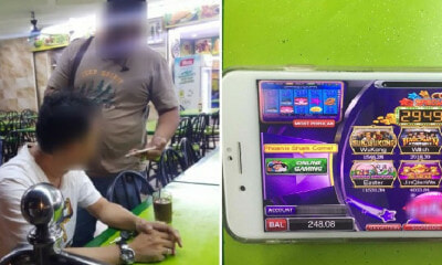 M'sian Man Uses Smartphone to Gamble Online at Cheras Mamak, Gets Arrested by Police - WORLD OF BUZZ 2