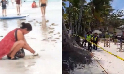 Part Of Boracay Closed For Cleanup After Video Of Tourist Burying Child's Dirty Diaper in Beach Goes Viral - WORLD OF BUZZ