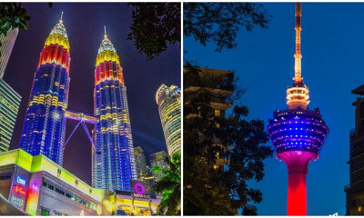 Photographer Captures The Colour Of Jalur Gemilang Illuminate National Landmark - WORLD OF BUZZ 7
