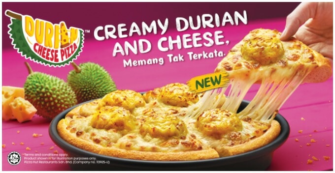 Pizza Hut Malaysia Just Introduced Durian Cheese Pizza & We Honestly Don't Know What to Think - WORLD OF BUZZ
