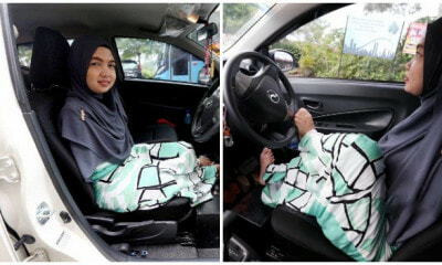 This Perak Woman Was Born With No Arms But She Learnt How to Drive to Be Independent - WORLD OF BUZZ