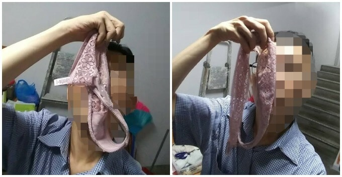 Man Went Viral For His Perverted Photos Of Allegedly Sniffing Women's Used Underwear - WORLD OF BUZZ