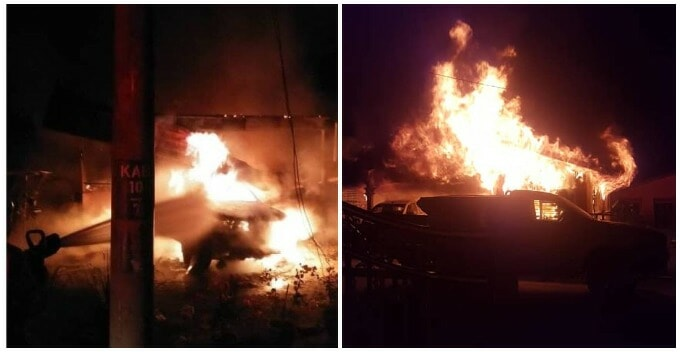 Raging Blaze In Perak Burns Down House Taking The Lives of Husband, Wife And Less Than 1yo Baby - WORLD OF BUZZ
