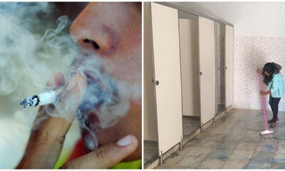 Smoking In A Non-Smoking Public Place? You Could Be Punished With Cleaning Public Toilets! - World Of Buzz