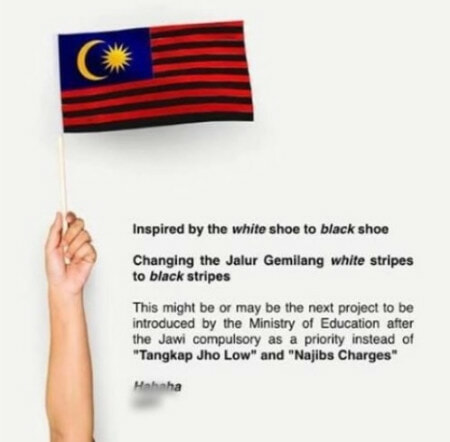 Tan Sri Posts Picture of Jalur Gemilang With Black Stripes, Netizens Are Outraged - WORLD OF BUZZ 1