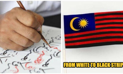 Tan Sri Posts Picture of Jalur Gemilang With Black Stripes, Netizens Are Outraged - WORLD OF BUZZ 2