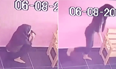 Teenage Girl Caught Peeing On The Floor Of A Laundry Mart In Melaka - WORLD OF BUZZ 2