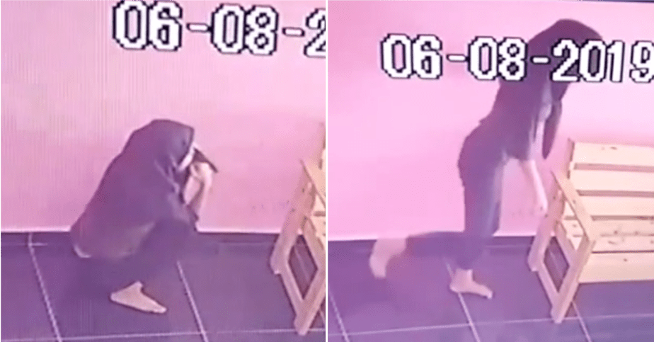 Teenage Girl Caught Peeing On The Floor Of A Laundry Mart In Melaka - WORLD OF BUZZ 2
