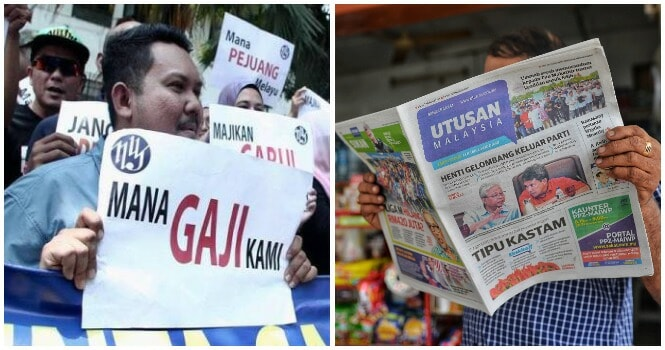 Utusan Malaysia May Be Totally Shutdown Due To Insufficient Funds, Workers' Salaries Are Still Unpaid - WORLD OF BUZZ