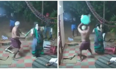 Watch: Badass Uncle & Aunty Fight Off Knife-Wielding Robbers With Slippers & Chairs - WORLD OF BUZZ