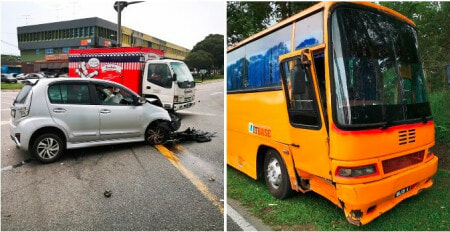 WATCH: Cement Truck Hits & Drags Perodua Viva Along Old Klang Road In a Hit & Run Fail - WORLD OF BUZZ