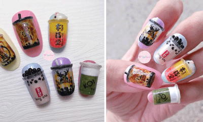 You Can Now Profess Your Love For Bubble Tea By Getting a 3D Nail Design At This Salon - WORLD OF BUZZ