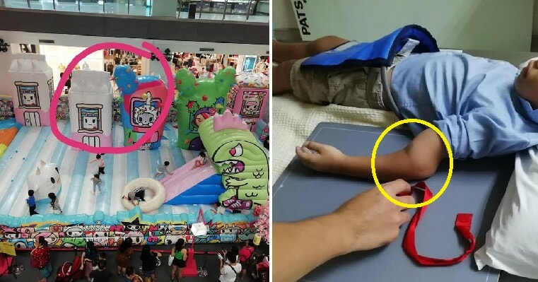 4yo Boy Fractures His Arm After Bully Pushes Him At Bouncy Castle in Johor Mall - WORLD OF BUZZ 2