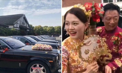 62yo Man Picks Up 28yo Bride in Fleet of Rolls-Royce Cars for Their Wedding, Netizens Envious - WORLD OF BUZZ 7
