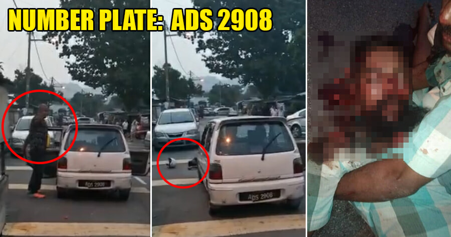 Video: 3 Men in Cheras Hit, Rob & Run Over Victim With Perodua Kancil - WORLD OF BUZZ