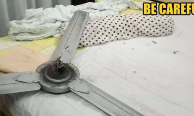 A Ceiling Fan Breaks and FALLS, Almost Injures 62-Year-Old Shah Alam Woman - WORLD OF BUZZ 2