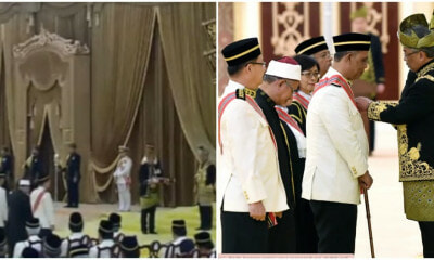 Agong Walks Down From Dais To Confer Award To M'sian Datuk With Walking Difficulties - WORLD OF BUZZ