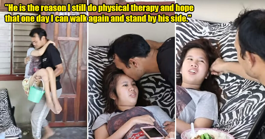 31yo Man Cares for Paralysed GF Every Day for 3 Years - WORLD OF BUZZ