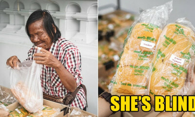 Blind 71yo Lady Still Sells Bread With A Smile Even Though People Cheated By Giving Her Fake Money - WORLD OF BUZZ 4