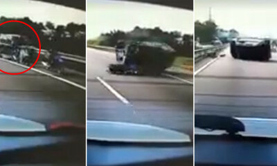 Watch: Car Swerves Into Left Lan - WORLD OF BUZZ