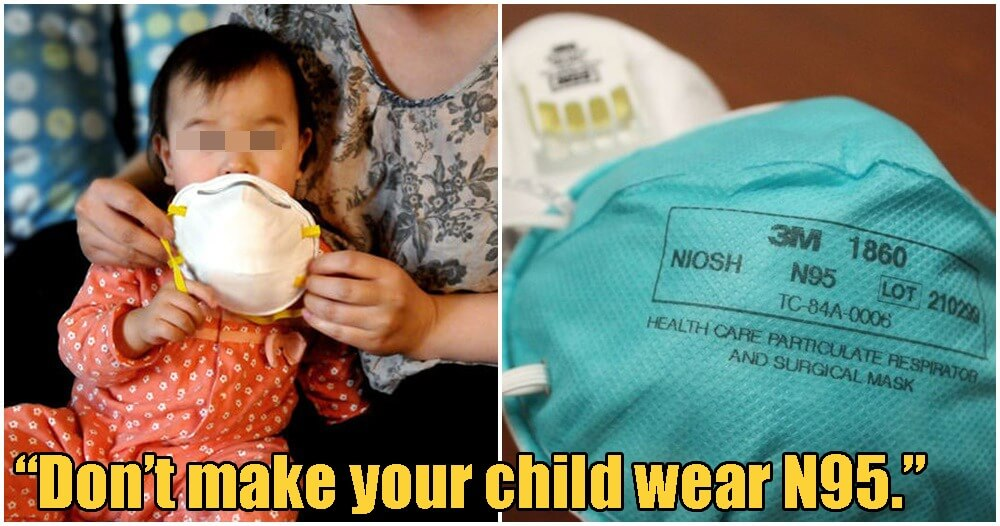 Children Shouldn't Wear N95 Masks As It Might Make Things Worse, According to Paediatrician - WORLD OF BUZZ