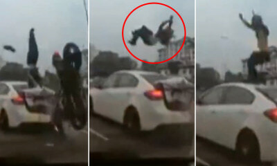 Watch: M'sian Motorist Flies & Spins in The Air After Crashing Into S'gporean Car That Abruptly Changed Lanes - WORLD OF BUZZ