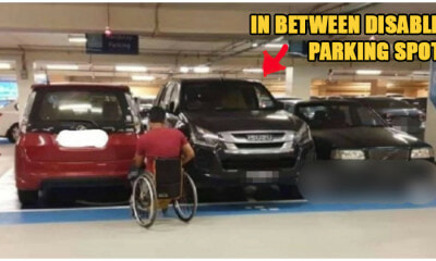 Disabled Man Couldn't Enter Car in Subang Mall Parking Because of This Seriously Rude Pickup Truck - WORLD OF BUZZ
