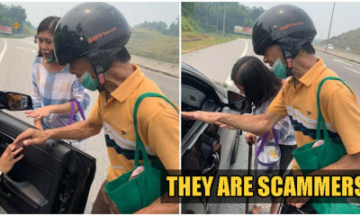 Beware: Elderly Couple Seen In KL & Selangor Is Scamming Drivers By Saying Their Motorbike Broke Down! - WORLD OF BUZZ