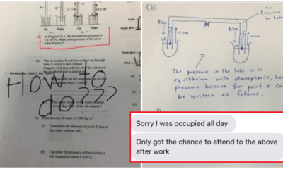 Father Helps His Daughter Out With Her Physics Homework Despite Busy Schedule Is Father-Of-The-Year Material - WORLD OF BUZZ 2