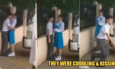 2 M'sian Students Kantoi After They Were Caught Kissing & Cuddling In School Uniforms - WORLD OF BUZZ
