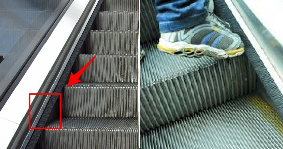 Here's Why Escalators Got Brushes on Its Sides & No, It's Not to Cuci Your Kasut - WORLD OF BUZZ
