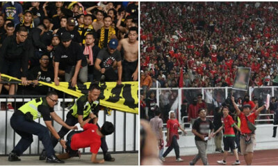 Indonesian Football Fans Throw Stones & Bottles at Harimau Malaya Fans After They Lose Match - WORLD OF BUZZ 1