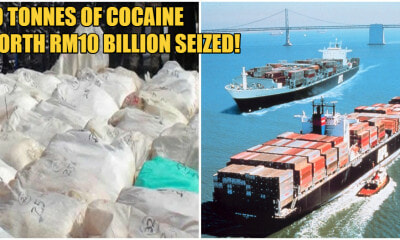 International Drug Ring Tried Smuggling 50,000kg of Cocaine Worth RM10 BILLION in Penang - WORLD OF BUZZ