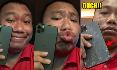 Man's Face Hilariously Changes After Dropping iPhone 11 Pro Max While Trying to Show Off - WORLD OF BUZZ