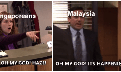 Malaysian Guy Turned 'The Office' Scene Into Haze Meme And It's A Riot - WORLD OF BUZZ