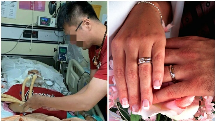 Man Marries Dead Girlfriend On Hospital Bed Before She Donates 12 Of Her Organs - WORLD OF BUZZ 1