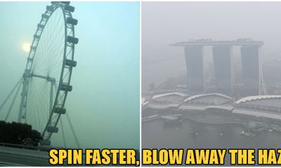 "Man Starts Petition To Make Singapore Flyer ""Spin Faster"" And Blow Haze Away - WORLD OF BUZZ"