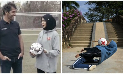 M'sian Girl Meets Up With German Footballer To Show Off Her Freestyle Skills - World Of Buzz