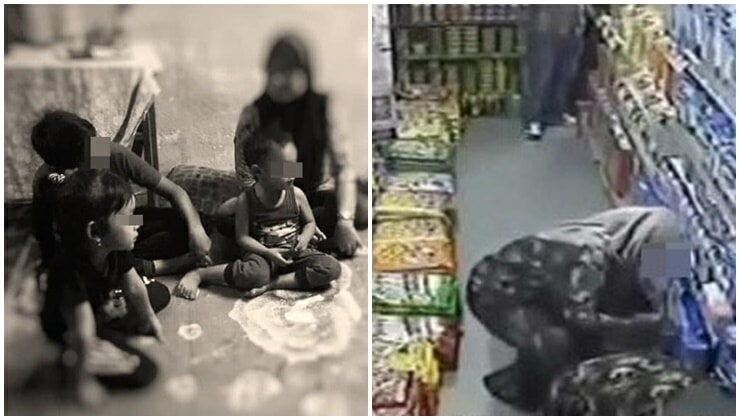 M'sian Single Mother Of Three Barely Surviving On RM500 Income, Steals Food From Supermarket To Feed Family - WORLD OF BUZZ 4