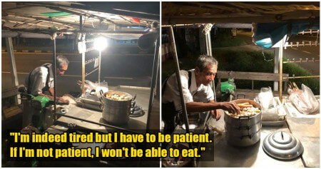 Old Uncle Opens Stall Late Into The Night To Earn Money For Food, Despite Lack Of Customers - WORLD OF BUZZ