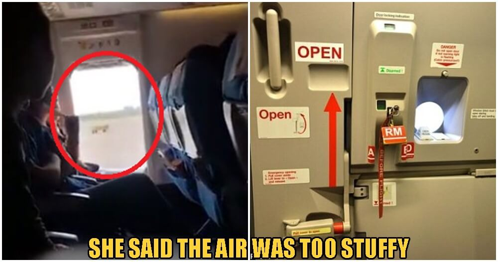 "Woman Opens Emergency Safety Door in Airplane Because She Said The Air Is ""Too Stuffy"" - WORLD OF BUZZ"
