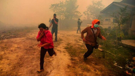 Riau Officially Declared State Of Emergency From Haze, Government Starting Evacuations Immediately - WORLD OF BUZZ 1