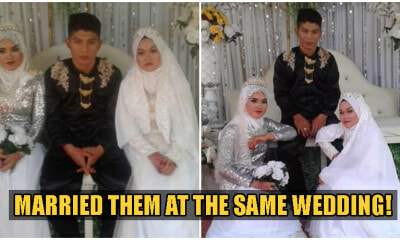 Sabah Man Can't Decide Which Girlfriend To Marry, Marries Them BOTH At The Same Time - WORLD OF BUZZ