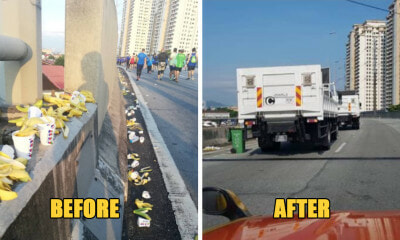 Standard Chartered Marathon Runners Trash DUKE Highway with Banana Peels & Cups - WORLD OF BUZZ 1
