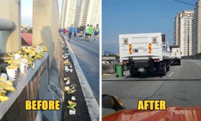 Standard Chartered Marathon Runners Trash DUKE Highway with Banana Peels & Cups - WORLD OF BUZZ 1
