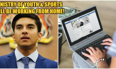 Syed Saddiq: Youth & Sports Ministry Will Be Working From Home When API Is 200 - WORLD OF BUZZ