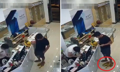 Video: Man Accidentally Sharts Himself in Shop, Calmly Stands In Own Crappy Puddle - WORLD OF BUZZ 3