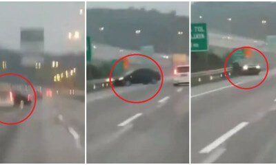 Watch: Drunk Driver on M'sian Highway Crashes Car Into Ditch After Driving Recklessly - WORLD OF BUZZ 2